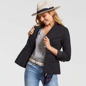 CAbi Eyelet Flamenco Jacket Blazer Black